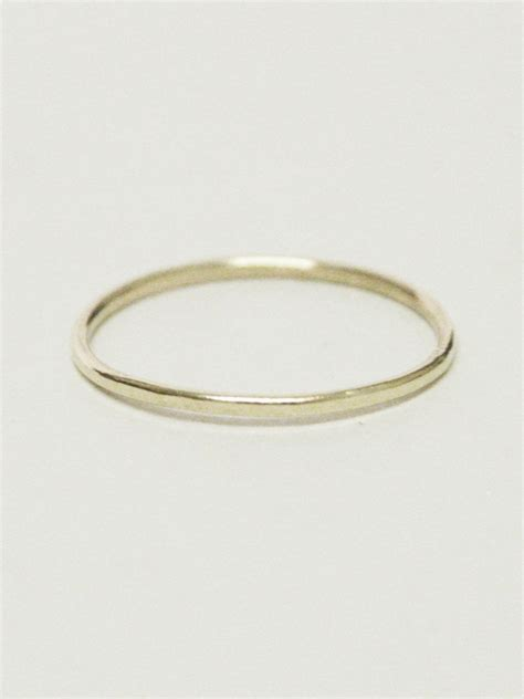 posy rings simple 9ct gold stacking ring nixon