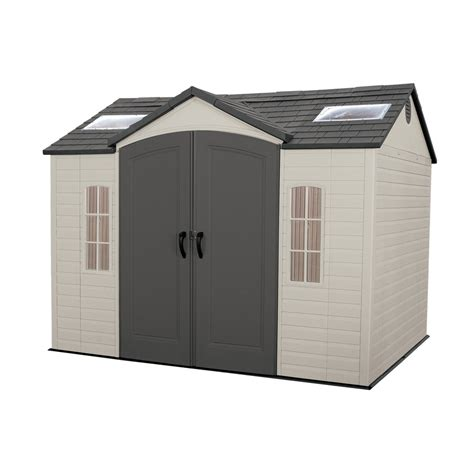 home design products keter shop lifetime products gable storage shed common 10 ft x