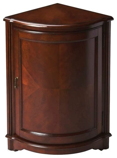 accent chests cabinets plantation cherry corner cabinet traditional accent