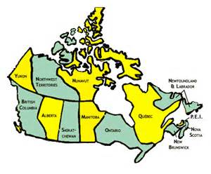 states of canada map regional povnet