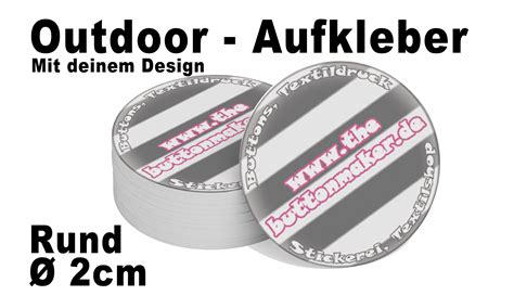 Aufkleber Rund 2 Cm by Aufkleber Rund 216 2 Cm Outdoor Textildruck Und Button