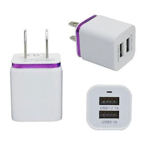 Travel Adapter Universal 2port Usb 1a universal travel 5v 2 1a 2port usb ac wall home charger power adapter eu us ebay