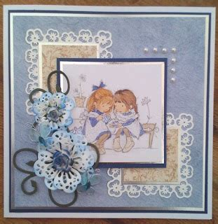 Card Challenges More 365 Cards Crafts 4 Eternity - verity cards brown and blue and a bit of news