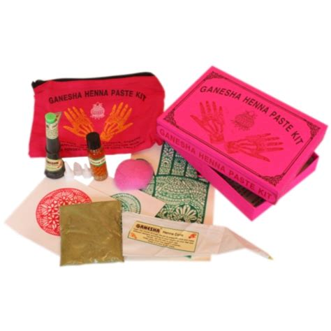 henna tattoo starter kits ganesha henna paste starter kit pink box