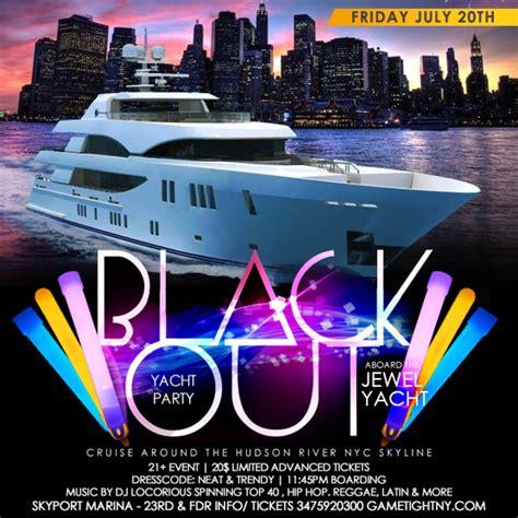 boat party nyc july blackout yacht party at skyport marina jewel yacht