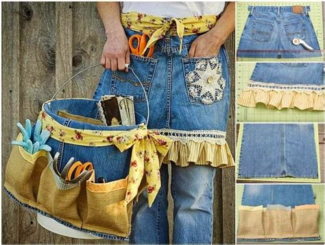 Tas Boxy Ribbon a garden apron using pictures photos and