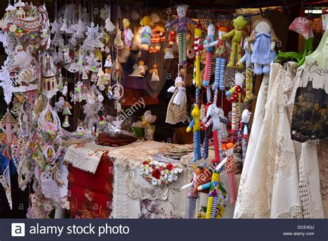 Marketplace For Handmade Items - detail of market stall with made craft products