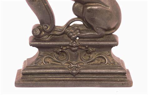 antique cast iron antique british lion cast iron door stop annie s attic
