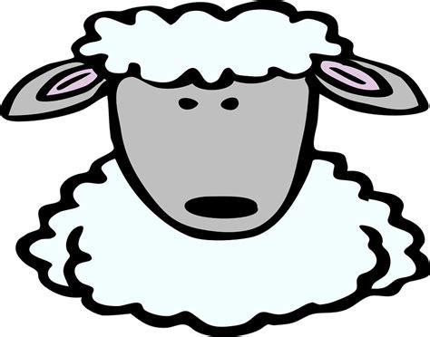 Komik Counting Sheep kostenlose vektorgrafik schafe gesicht comic tier uhr