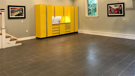 Porcelain Tile Garage Floor Porcelain Tile The Ideal Surface For Garage Flooring Vault Custom Garages