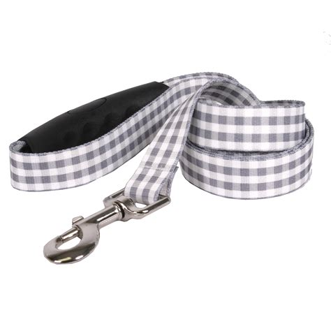 southern comfort handle southern dawg gingham gray ez grip dog leash by yellow