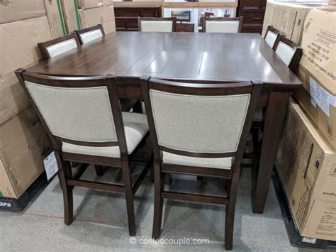 Convertible Dining Room Table Pulaski Furniture 9 Piece Counter Height Dining Set