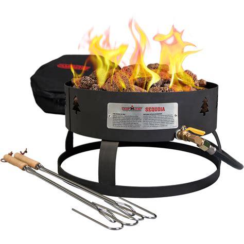 c chef portable propane pit c chef sequoia propane pit with lava rocks gclogm