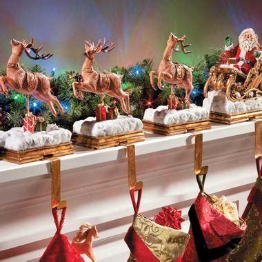 santa and reindeer holders santa reindeer holder