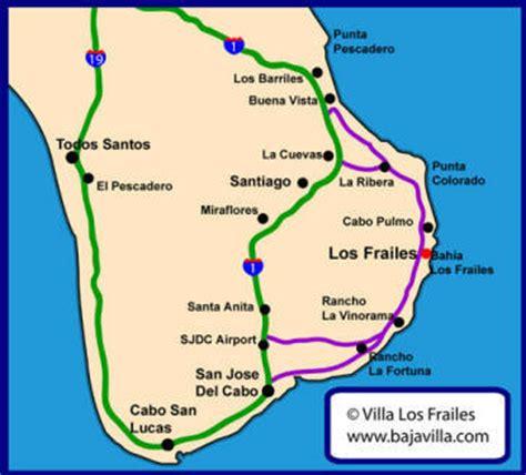 eastern mexico map villa los frailes vacation rental east cape baja mexico