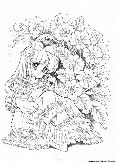 glitter force woman cry flowers coloring pages printable