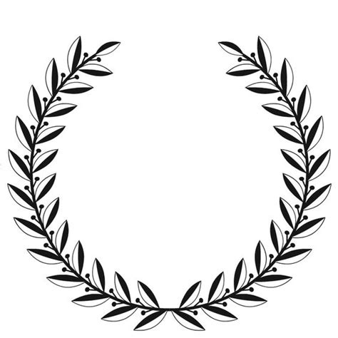 laurel leaf template clipart best