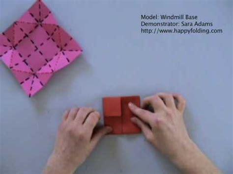 Origami Windmill Base - origami basics windmill base