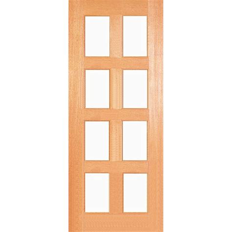 Bunnings Woodcraft Doors Woodcraft Doors 2040 X 820 X 40mm Safety Glass Doors