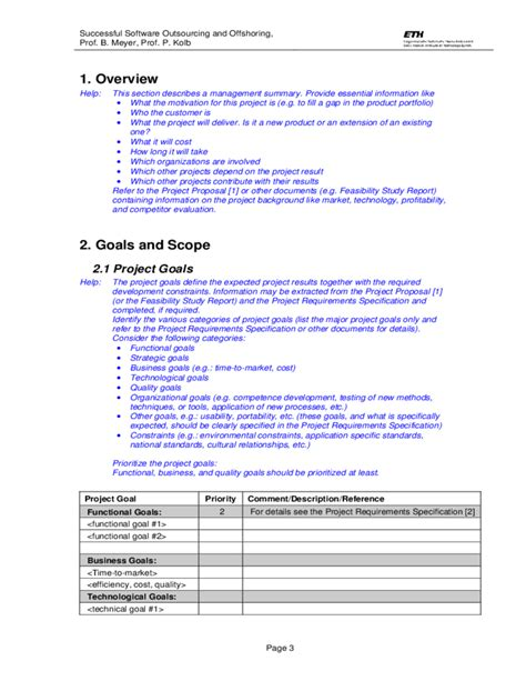 project plan outline template free template project plan free