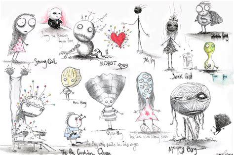 Sk2 Tim Burton Esque Sketchbook Assignment Sja