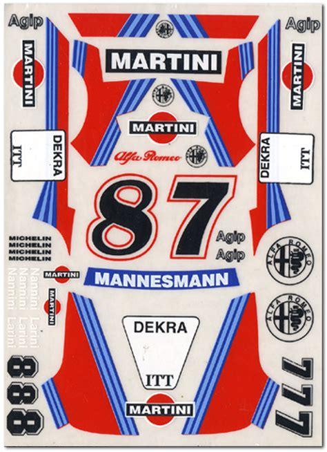 Martini Racing Aufkleber Set by Mre Alfa 155 Martini Slotcars Und Slotcar Zubeh 246 R