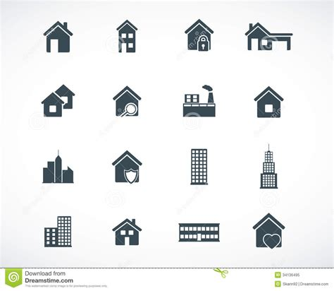 iconic layout jevents download vector black building icons stock illustration