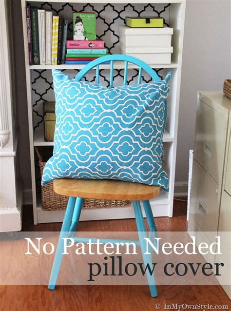How To Make Covers Without Sewing by How To Make A Pillow Cover Without Using A Sewing Pattern