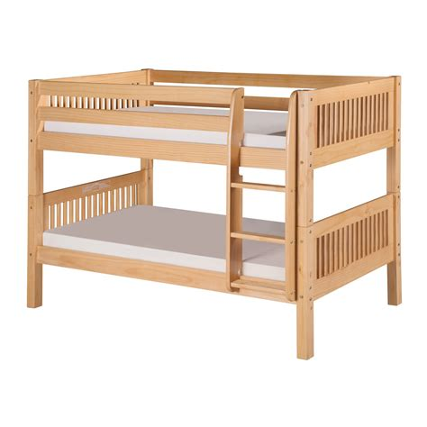low loft bunk beds camaflexi c201 mission low bunk bed atg stores