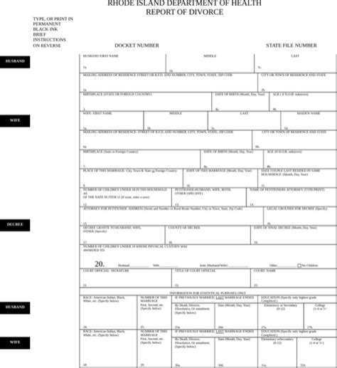Download Rhode Island Divorce Papers For Free Formtemplate Form N Port Template
