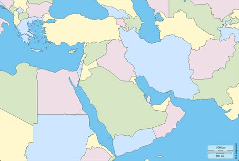 middle east map free south west asia free map free blank map free outline
