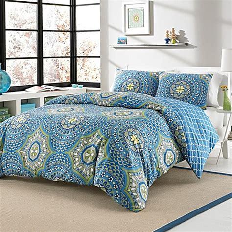 Jual Bed Cover Set California layla 3 4 reversible duvet cover set bed bath beyond