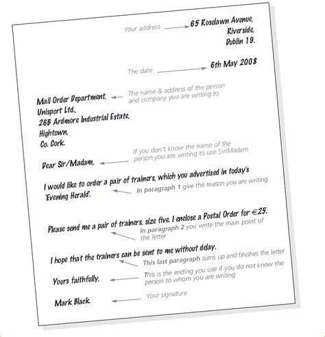 Formal Cover Letter Exle by Format Of A Formal Letter In Afrikaans Letter Format