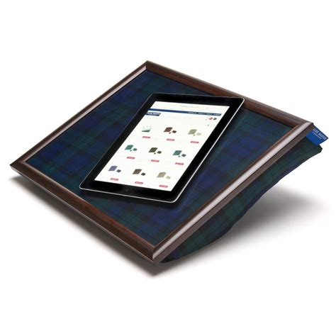 bean bag laptop tray uk bean bag cushioned tray in blackwatch by blue badge co