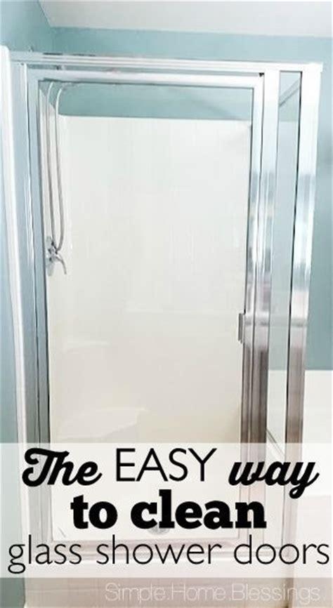 clean shower glass doors  easy   love
