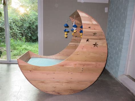 Diy Moon Shaped Cradle 1 - crafted half moon cradle pallet furniture half moon