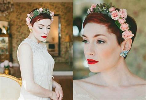 Wedding Hair With Pixie Cut by Pixie Wedding Hairstyles To Inspire All Brides