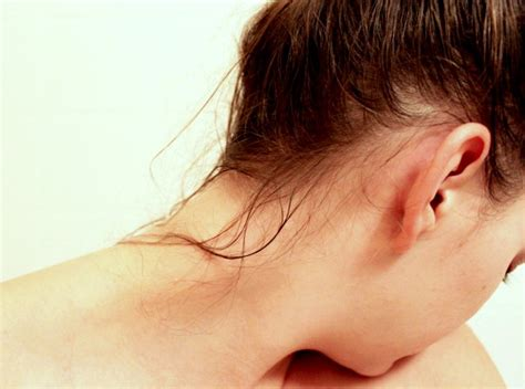 lady neck hair file female wet hair strands face turned jpg wikimedia