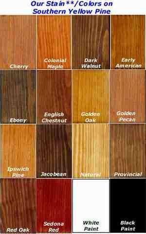 stain chart  yellow pine staining wood pine stain