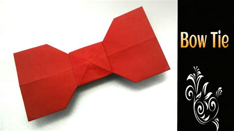 Origami Bow Tie - origami tutorial to make an easy paper quot bow tie