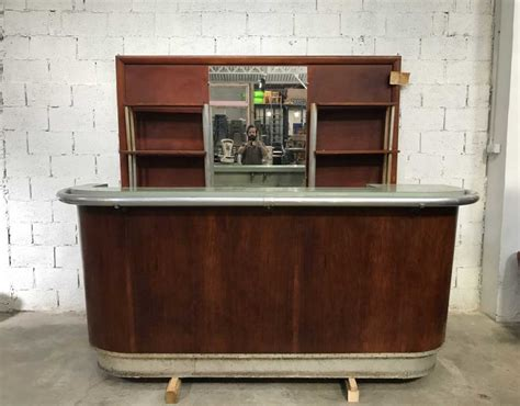 ancien bar de bistrot complet avec arri 232 re bar 233 e 50
