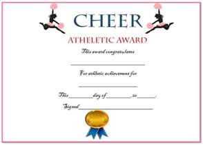 20 free printable cheerleading certificate templates for
