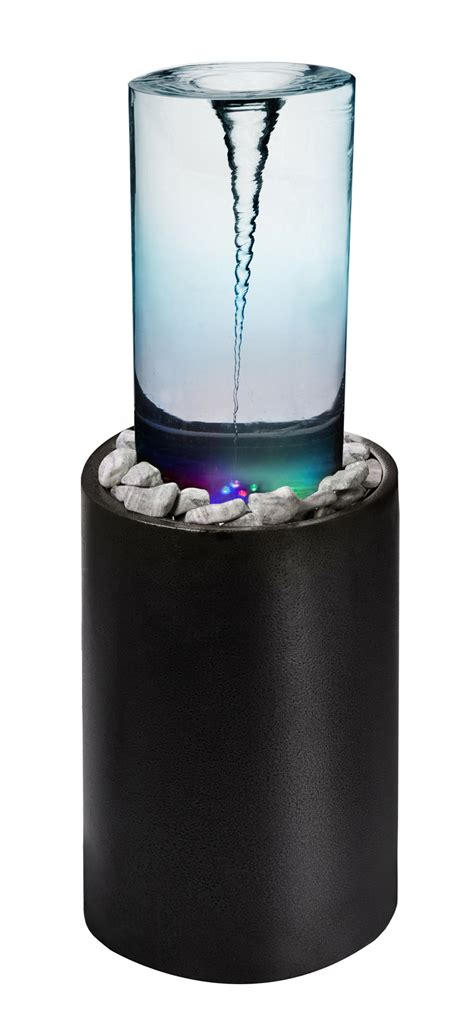 vortex whirlpool tube water feature  colour changing