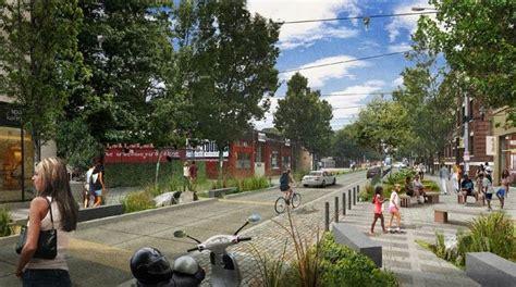 urban layout landscape features and pedestrian usage pedestrian friendly street design curbless street io