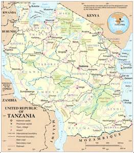 tanzania border map