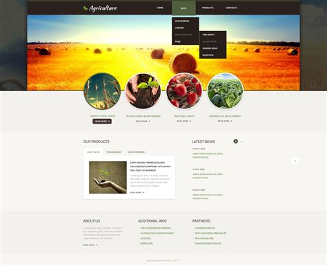 drupal themes overview agriculture drupal template 39989