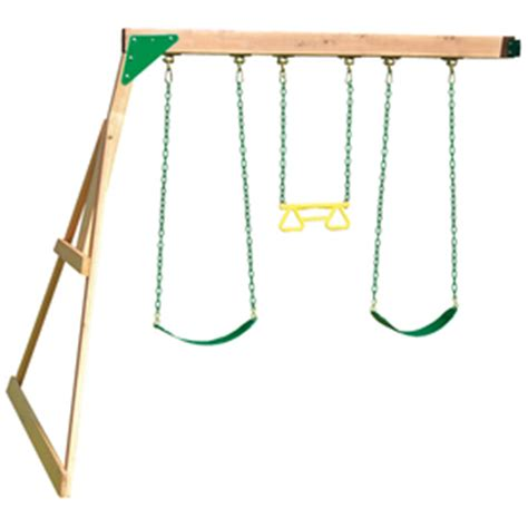 swing set kits lowes shop leisure time products swing beam wood playset kit at