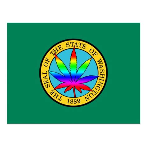 washington state colors washington state flag with leaf and rainbow colors