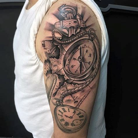 upper sleeve tattoo designs 20 nautical half sleeve tattoos