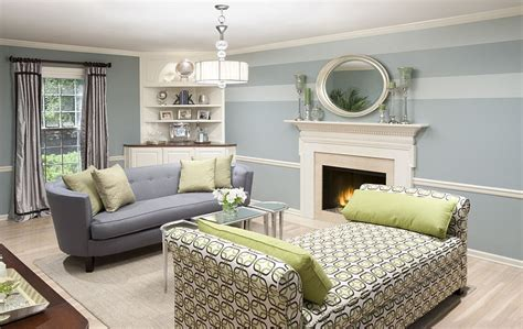Light Blue Paint Colors For Living Room by 15 Fabulous Living Rooms With Striped Accent Walls